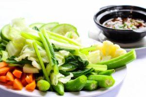 Rau xanh - món ăn không thể thiếu trong thực đơn phòng net