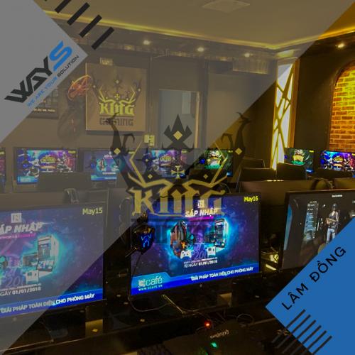 King Gaming - Dự án lắp đặt phòng Net tại Bảo Lộc | Ways.vn