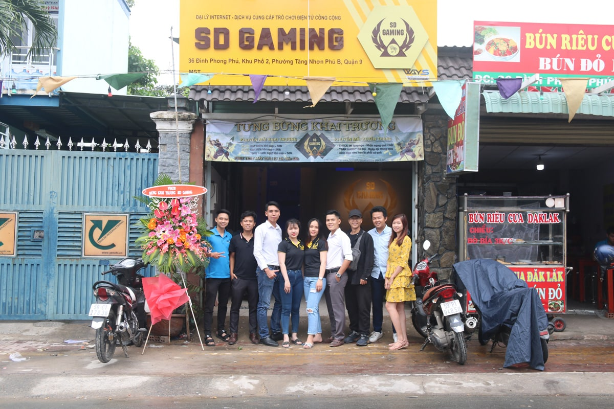 'Phòng máy Ai Cập' SD Gaming - Điểm đến mới của game thủ quận 9